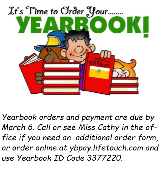 It's Yearbook Order Time!!