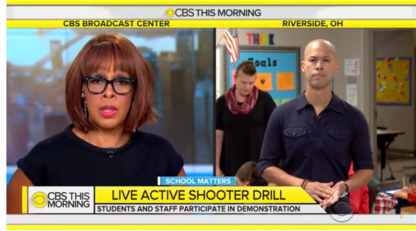 BG Active Shooter Drill Featured Live on CBS Morning Show