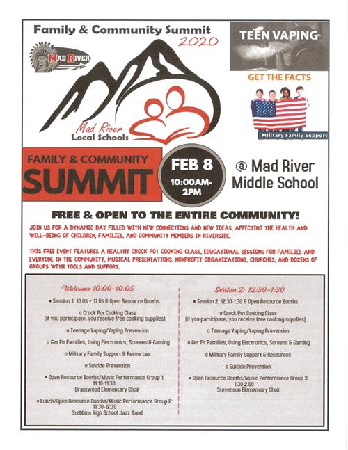 Parent Summit- February 9, 2019