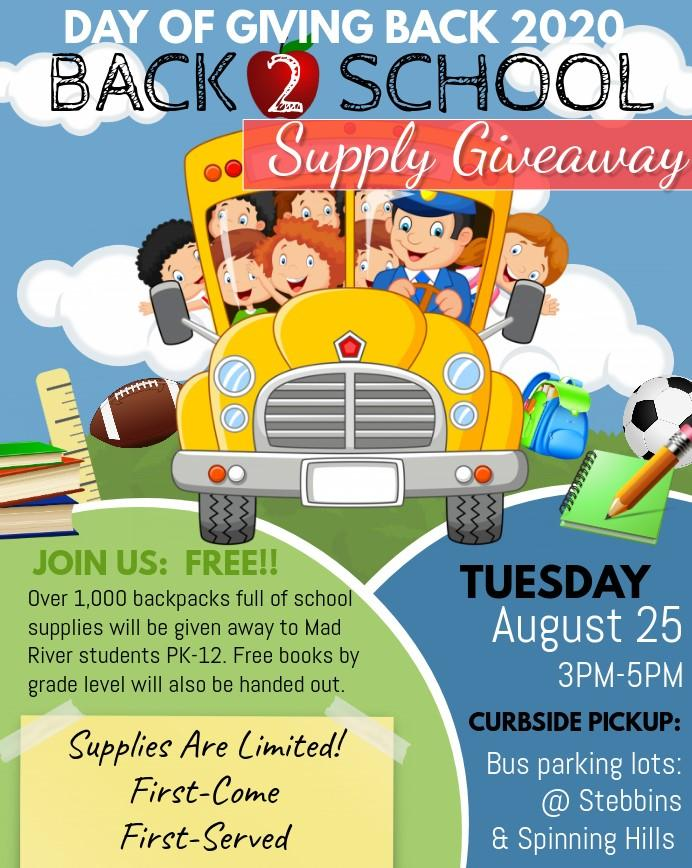 Day of Giving Back 2020-Backpack Giveaway